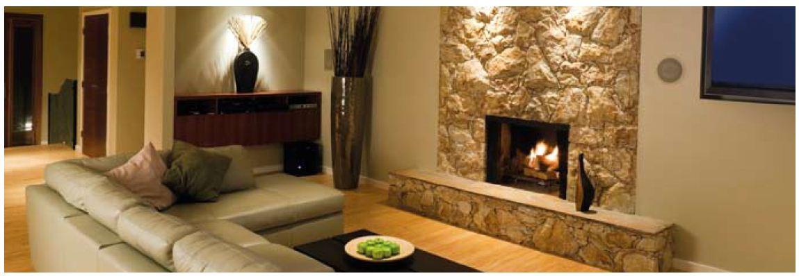 Imagebild Wohnzimmer mit Kamin